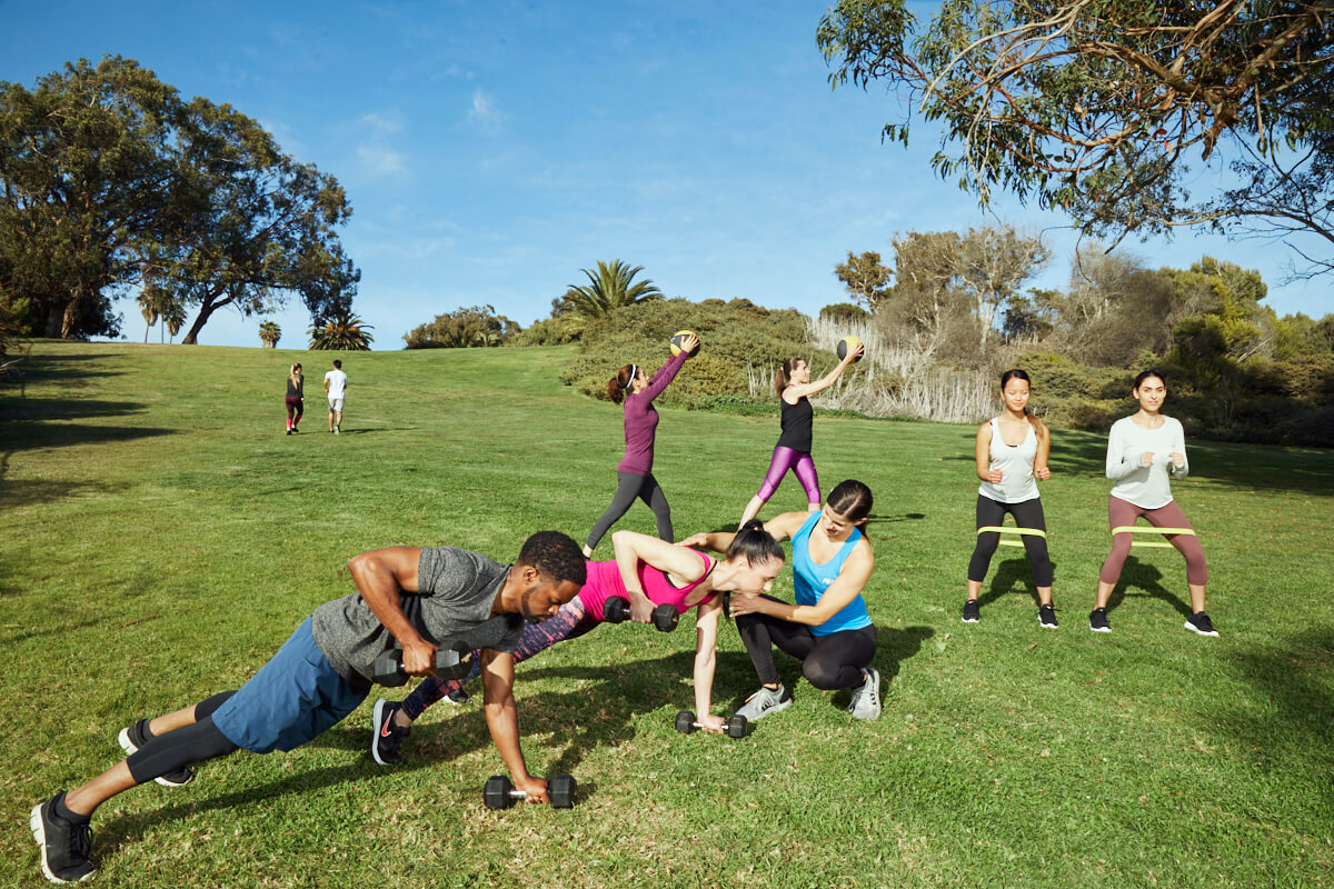 Outdoor Group Fitness Class